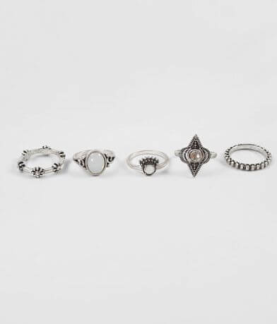 BKE Embossed Stone Ring Set