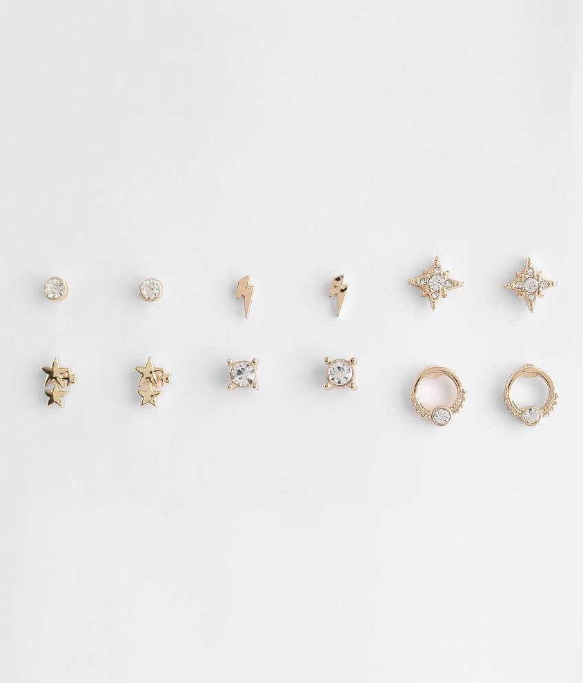 BKE 6 Pack Assorted Stud Earring Set front view