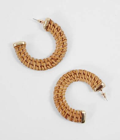 BKE Wicker Hoop Earring