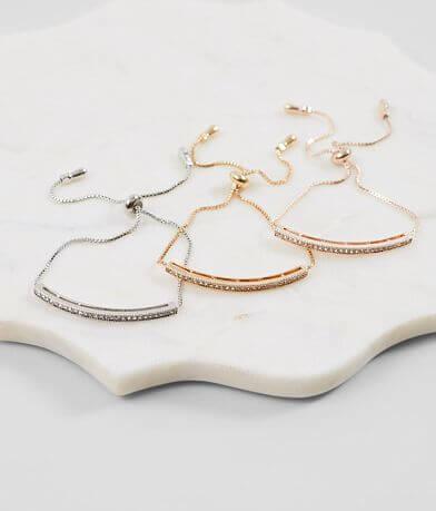 BKE Dainty Rhinestone Bracelet Set