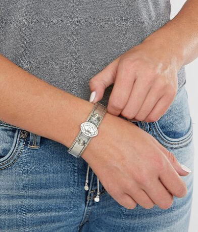 BKE Embossed Rhinestone Bracelet