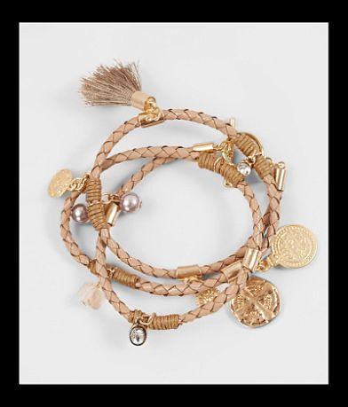 BKE Braided Wrap Bracelet