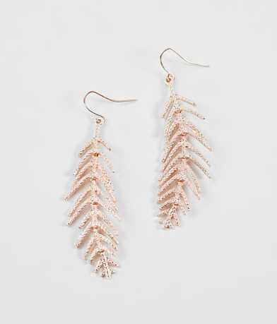 BKE Metal Feather Earring