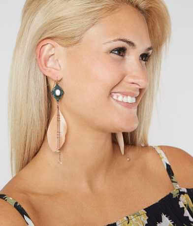 BKE Patina Feather Earring