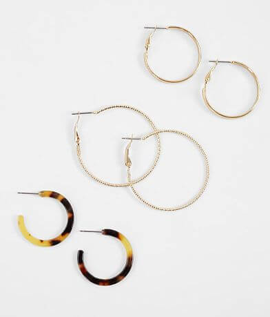 BKE Hoop Earring Set