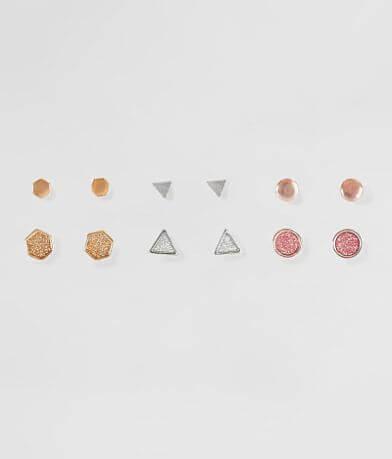 BKE Geo Glitter Earring Set