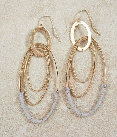 BKE Thread Wrapped Oval Earring