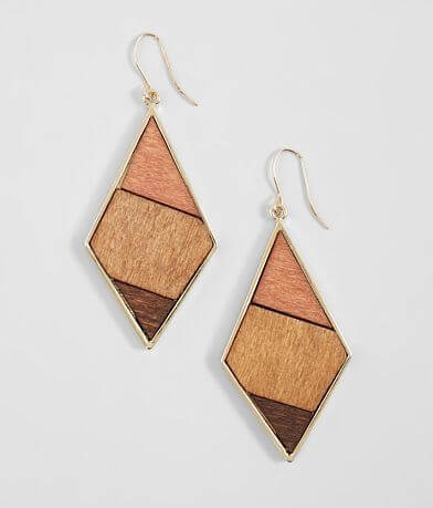 BKE Geometric Wood Earring