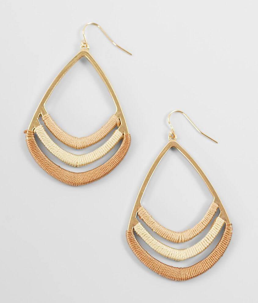 Metal drop earring Drop measures 2 1/4\\\