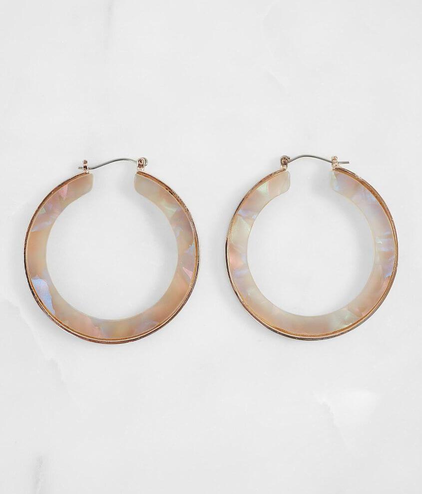 Resin hoop earring Measures 1 3/4\\\