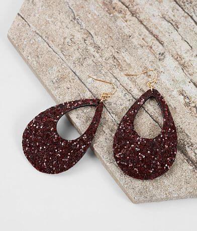 BKE Glitter Teardrop Earring