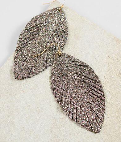 BKE Glitter Feather Earring
