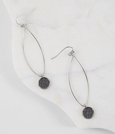 BKE Glitter Pendant Earring