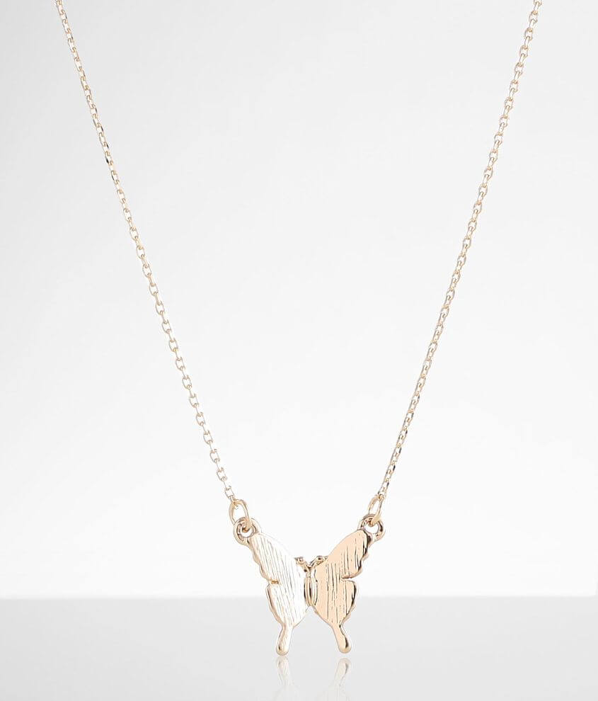 BKE Dainty Butterfly Necklace front view