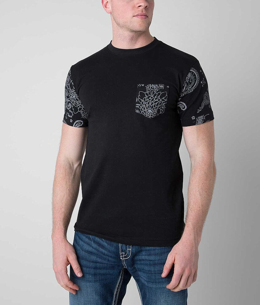 Young & Reckless Paisley T-Shirt front view