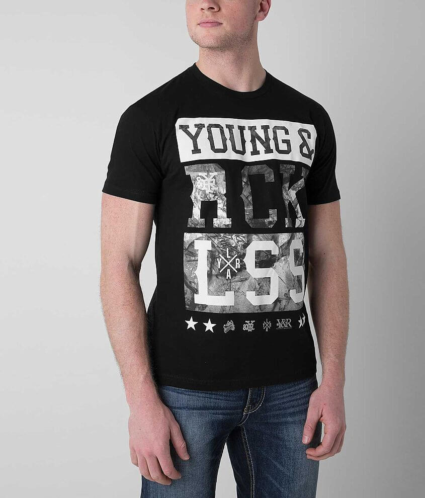 Young & Reckless Marble Bars T-Shirt front view