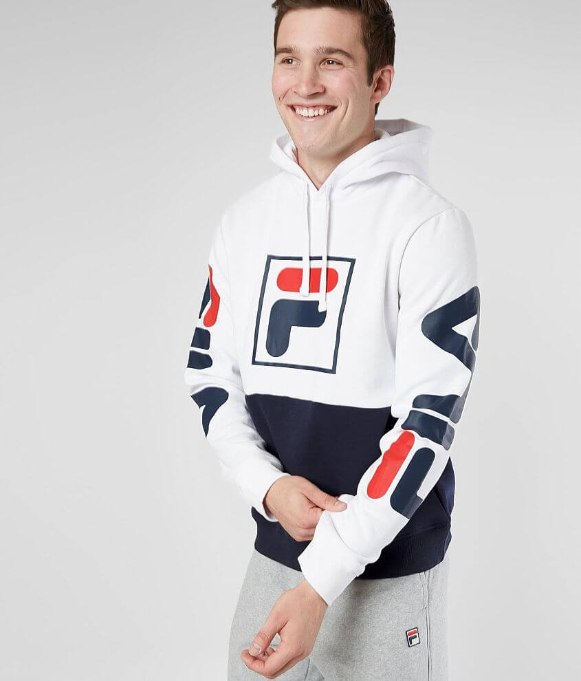 c1a3261f71c45 FILA Marzio Hooded Sweatshirt - Men's Sweatshirts in White Navy ...