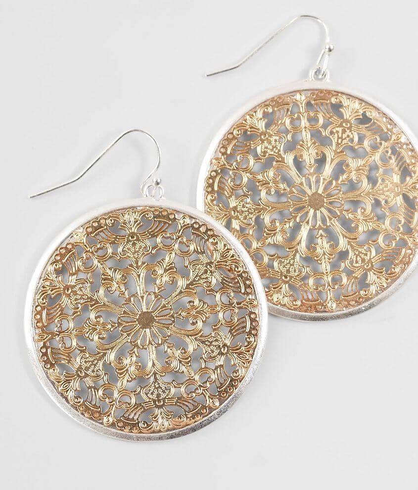 Metal drop earring Drop measures 2\\\
