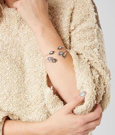 BKE Dainty Cuff Bracelet Set