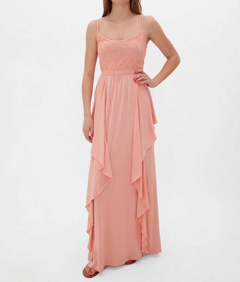 Fire Lace Bodice Maxi Dress front view