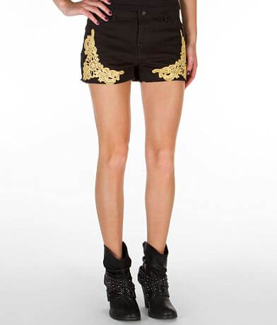 Tinseltown Crochet Stretch Short