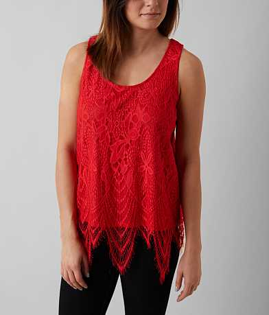Fire Eyelash Lace Tank Top