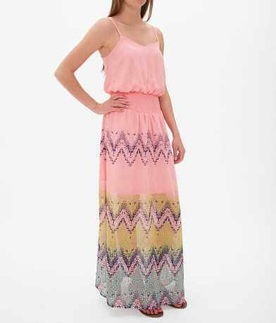 Fire Printed Maxi Dress