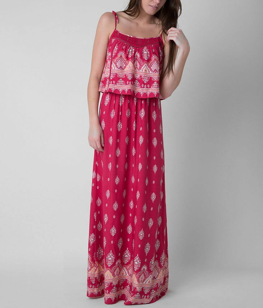 Fire Printed Maxi Dress front view