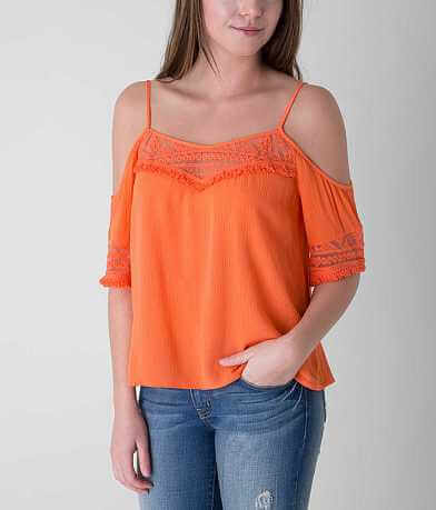 Fire Cold Shoulder Top