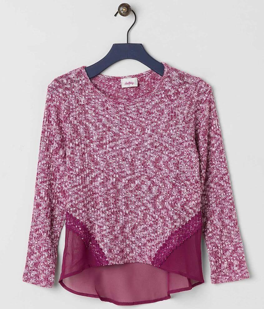 Girls - Daytrip Pieced Sweater front view