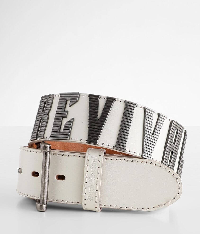 Rock Revival White Rock Georgia Leather Belt front view