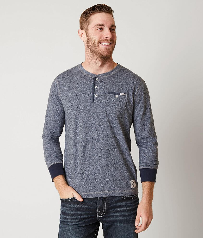 Flag & Anthem Heathered Henley front view