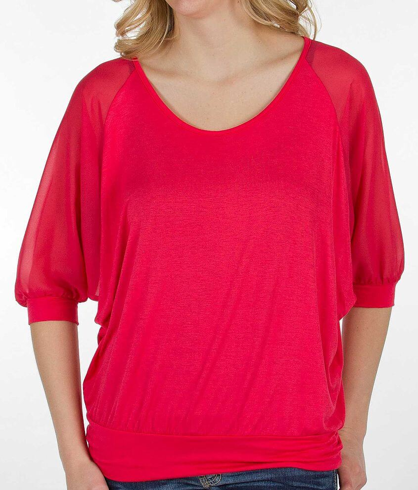 BKE red Pieced Top front view