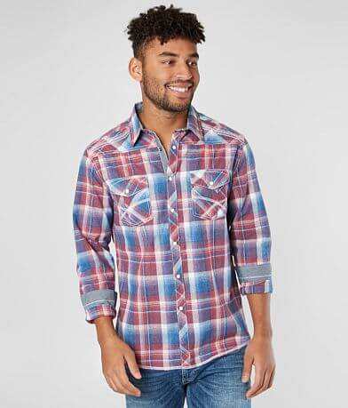BKE Plaid Athletic Shirt