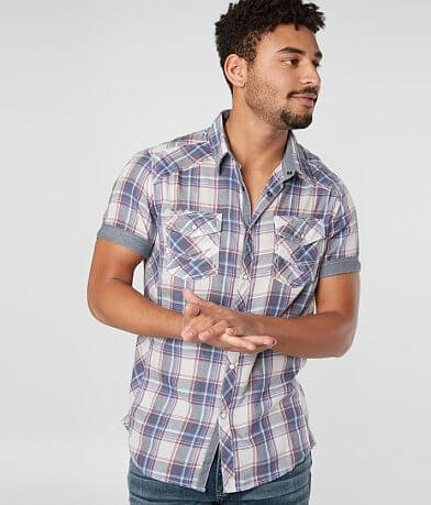 BKE Plaid Standard Fit Shirt