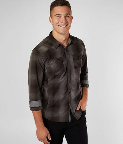 BKE Tonal Plaid Athletic Shirt