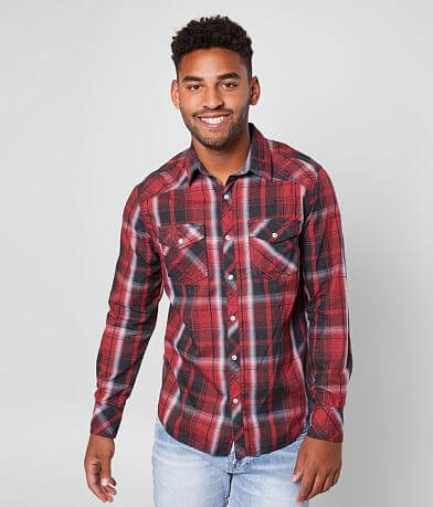 BKE Plaid Standard Shirt
