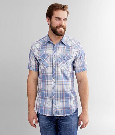 BKE Washed Plaid Standard Shirt