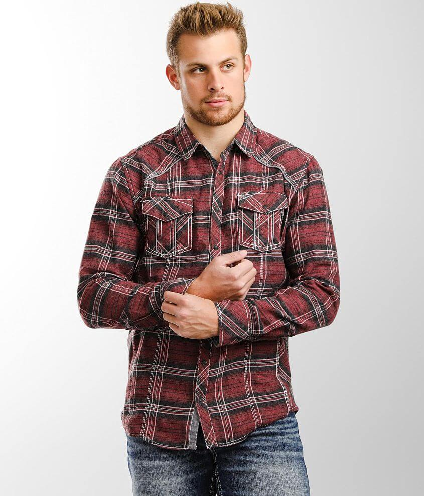 BKE Flannel Plaid Athletic Shirt front view