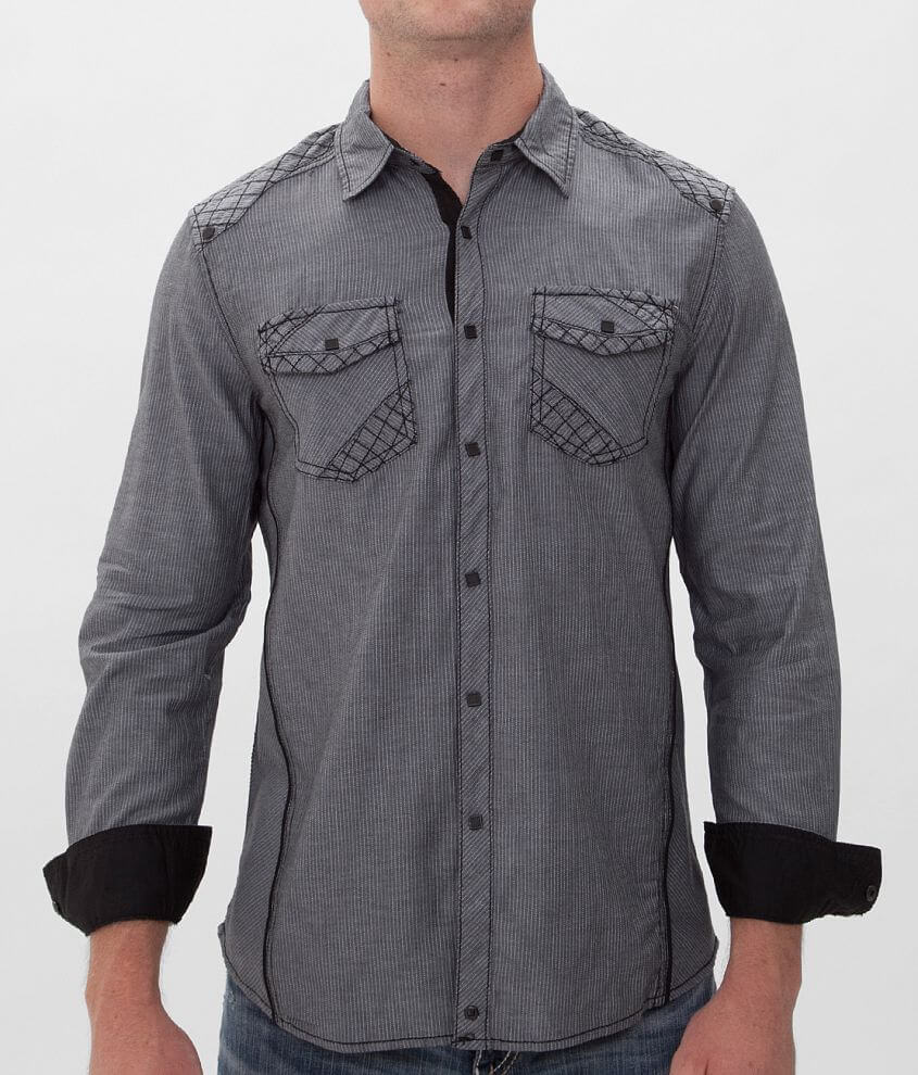 Buckle Black Drive Stretch Shirt front view