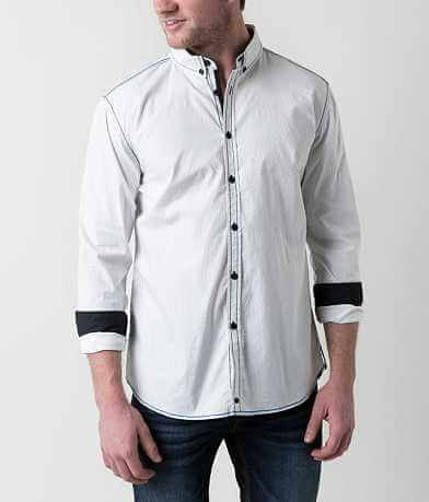 Buckle Black Guns To Town Stretch Shirt