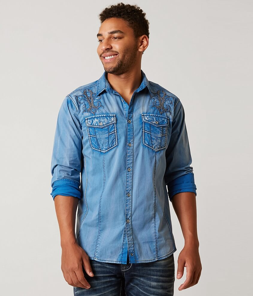 Buckle Black Faded Stretch Shirt