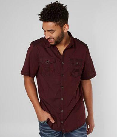 Buckle Black Smooth Stretch Shirt