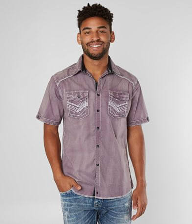 Buckle Black Attention Stretch Shirt