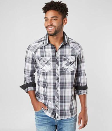 Buckle Black Speckled Bird Stretch Shirt