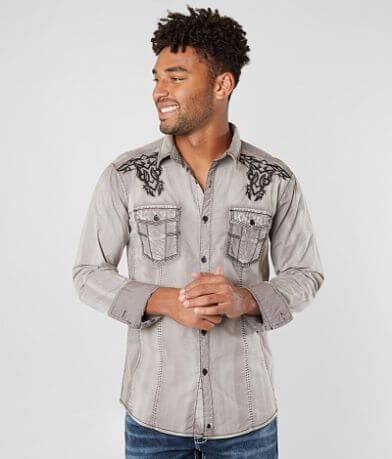 Buckle Black Moody Stretch Shirt