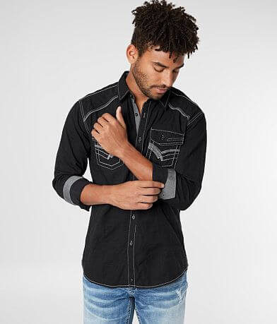Buckle Black Ripstop Athletic Stretch Shirt
