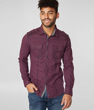 Buckle Black Solid Tailored Shirt