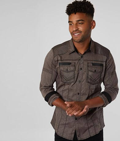Buckle Black Pinstripe Standard Stretch Shirt