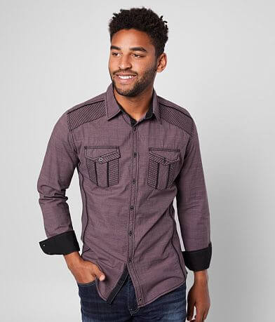 Buckle Black Tailored Solid Stretch Shirt